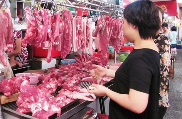 Thị trường nội địa vẫn là kênh tiêu thụ thịt lợn chủ yếu.