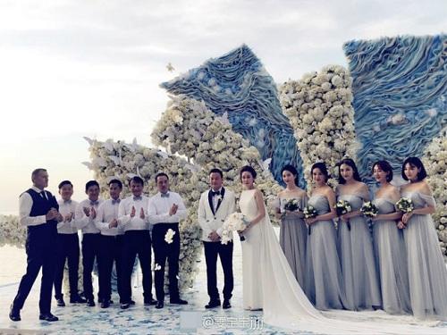 Đi đám cưới, Lưu Diệc Phi gợi cảm lấn át cả cô dâu - 3