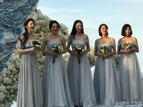 Đi đám cưới, Lưu Diệc Phi gợi cảm lấn át cả cô dâu - 4