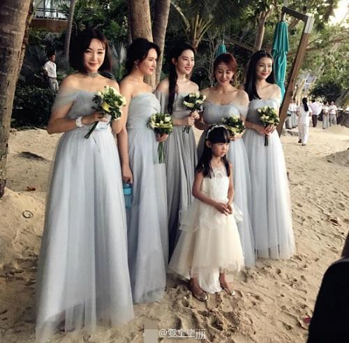 Đi đám cưới, Lưu Diệc Phi gợi cảm lấn át cả cô dâu - 5