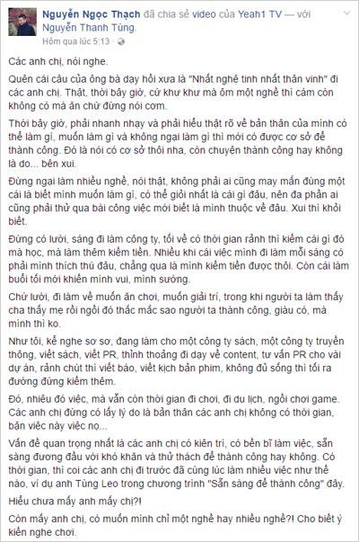 """Video về MC Tùng Leo vừa ra mắt đã gây """"bão mạng"""" - 2"""