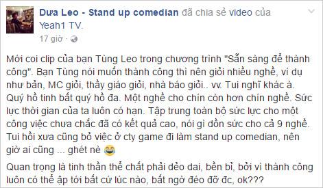 """Video về MC Tùng Leo vừa ra mắt đã gây """"bão mạng"""" - 3"""