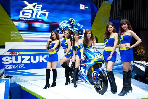 Suzuki Việt Nam ra mắt 3 mẫu xe mới tại triển lãm mô tô, xe máy 2017 - 5