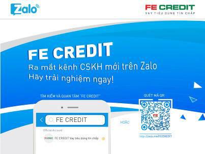FE CREDIT ra mắt kênh chăm sóc khách hàng trực tuyến trên Zalo - 1