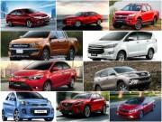 10 mẫu xe bán chạy nhất Việt Nam tháng 4/2017