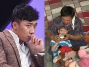Trấn Thành khóc hết nước mắt vì người cha nuôi hai con bị teo não