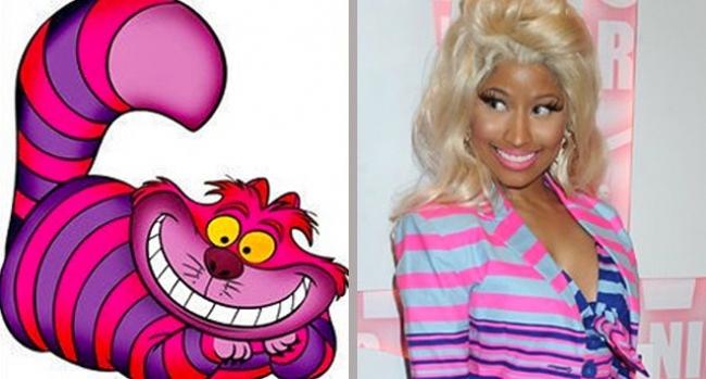 Ca sĩ Nicki Minaj là cảm hứng để tạo ra chú mèo Cheshire.