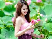 Bạn trẻ - Cuộc sống - Thiếu nữ Lào khoe dáng ngọc bên sen đầu hạ