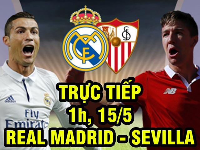TRỰC TIẾP bóng đá Real Madrid - Sevilla: Cơn ác mộng Ronaldo