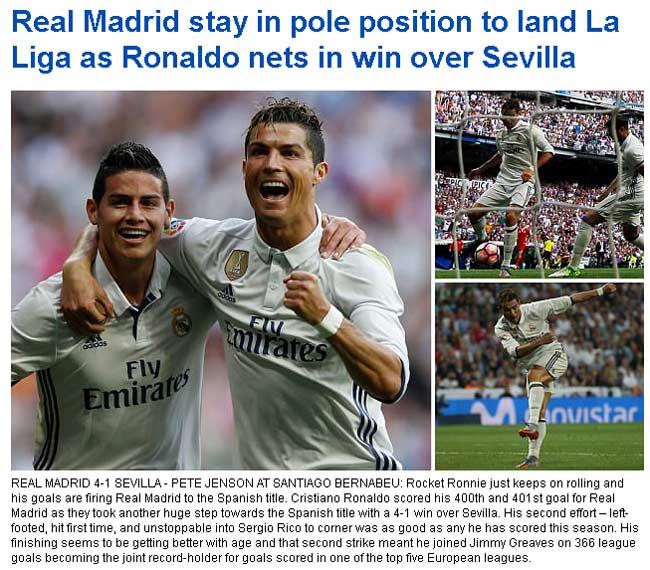 """Báo chí bái phục Ronaldo: """"Quái vật"""" vòng cấm đáng sợ nhất - 3"""