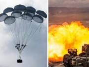 Thế giới - Nga thả xe tăng từ trên trời xuống đất luyện bắn nhau