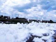 """Tin tức trong ngày - """"Tuyết"""" phủ trắng kênh đen khiến người SG ngỡ ngàng"""
