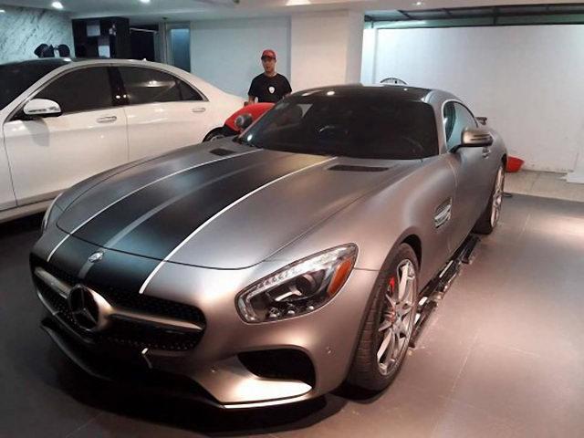 Mercedes-AMG GT-S mới tậu của Cường Đô La thay 'áo mới' - 1