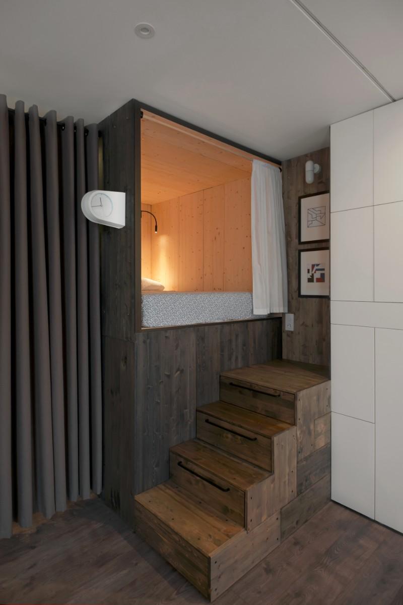 """""""Hộp ngủ"""" sáng tạo cho căn hộ 35m2 rộng khó tin - 6"""