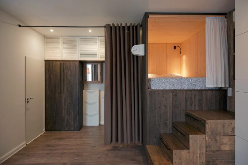 """""""Hộp ngủ"""" sáng tạo cho căn hộ 35m2 rộng khó tin - 8"""