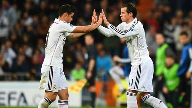 """MU & Real làm """"bom tấn đôi"""": 130 triệu bảng cho Bale & James - 2"""