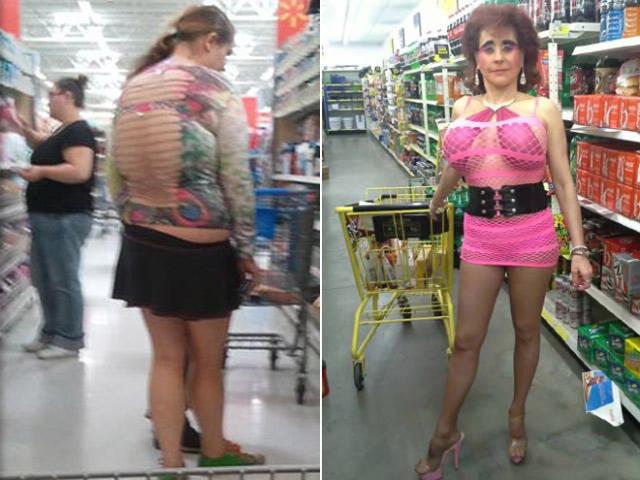 """Tranh vui - Thời trang đi siêu thị quái dị của các """"chụy"""""""