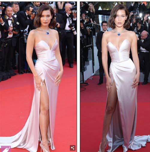 """Hot girl Hollywood nổi """"bần bật"""" tại Cannes vì sự cố váy xẻ sâu - 1"""
