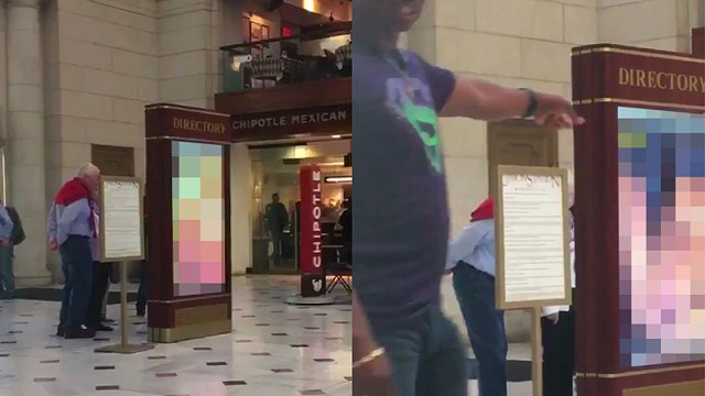 Mỹ: Chiếu phim khiêu dâm ở nhà ga đúng giờ cao điểm - 1