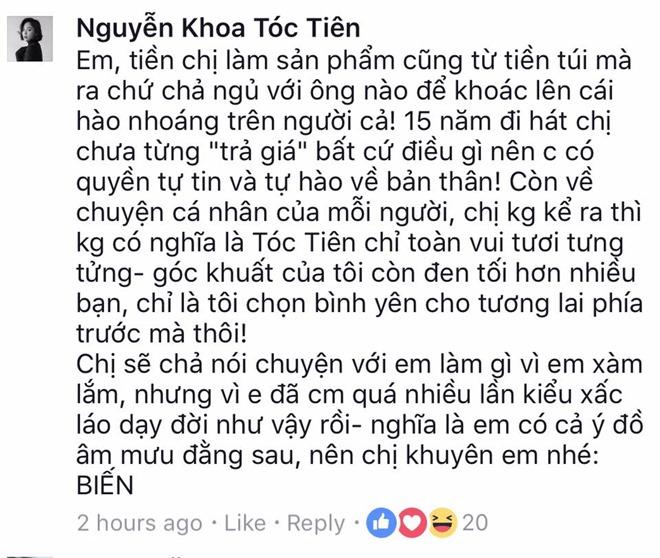 """Tóc Tiên đáp trả sau phát ngôn sốc """"không bán thân cho đại gia"""" - 2"""