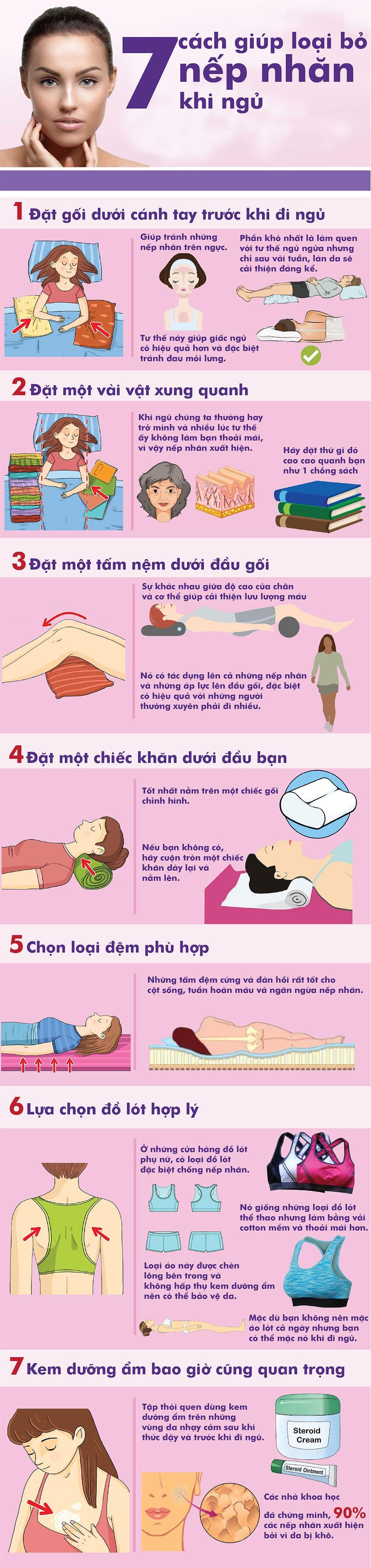 7 cách giúp loại bỏ nếp nhăn khi ngủ - 1