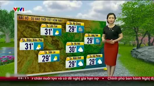 Dự báo thời tiết VTV 20/5: Bắc Bộ giảm mưa, hửng nắng