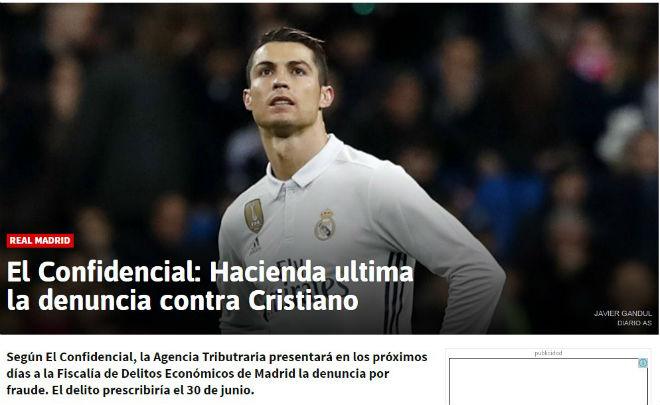 """Ronaldo bị kiện vì trốn thuế: Báo thân Real tố Barca """"hèn hạ"""" - 1"""