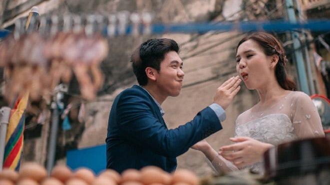 Cặp đôi Thái gây sốt vì chụp ảnh cưới với muôn kiểu món ăn - 6