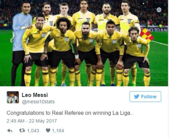 """Real vô địch: Fan Barca """"sôi máu"""" tố đối thủ mua trọng tài - 2"""