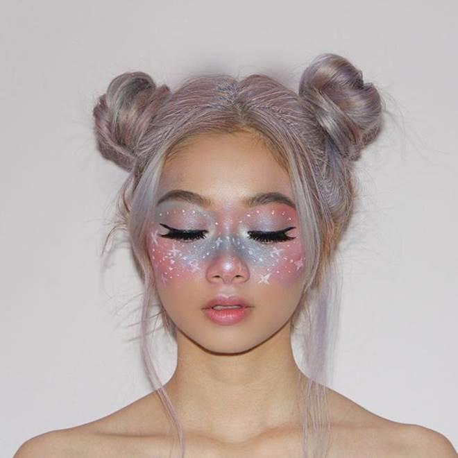 Sao Việt mê mẩn kiểu makeup đính kim tuyến lấp lánh - 6