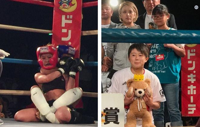 MMA lại sốc: Bé 12 tuổi siết cổ, đánh bại đả nữ 24 - 1