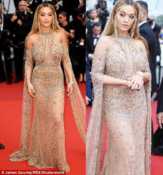 """Kiều nữ """"lộ liễu"""" ở Cannes vì mặc ngắn, mỏng như sương - 5"""