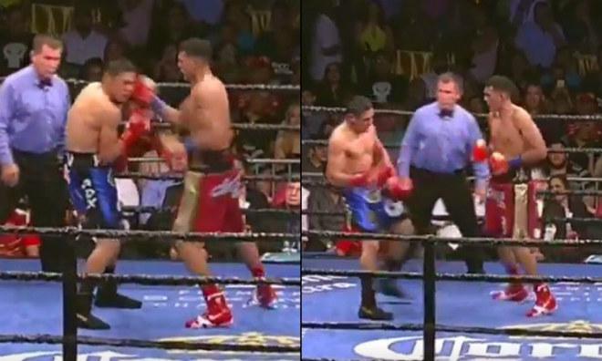 """Kinh điển boxing: 1 giây 10 đấm, đối thủ """"bay"""" khỏi sàn - 1"""