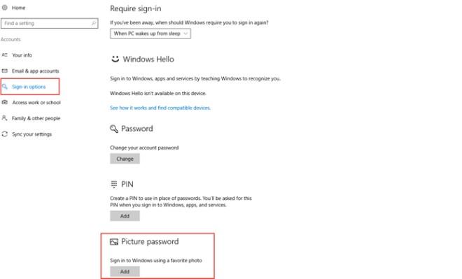 Cách thiết lập mật khẩu bằng hình ảnh cho Windows 10 - 2