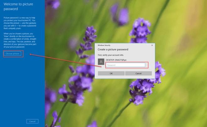 Cách thiết lập mật khẩu bằng hình ảnh cho Windows 10 - 3