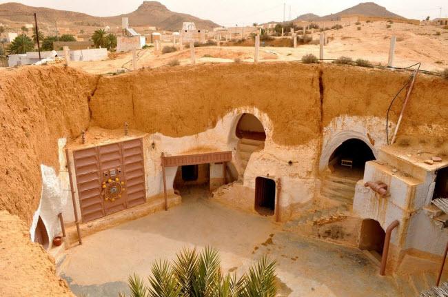 """""""Trốn nóng"""" trong những ngôi nhà ẩn mình dưới mặt đất ở Tunisia - 5"""