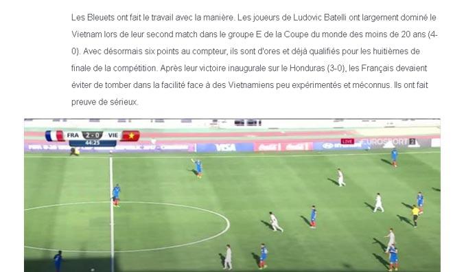 Thua đậm U20 Pháp, thủ môn U20 Việt Nam vẫn được báo Tây khen - 4