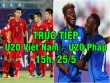 "TRỰC TIẾP bóng đá U20 Việt Nam – U20 Pháp: Tung hết ""vũ khí"""