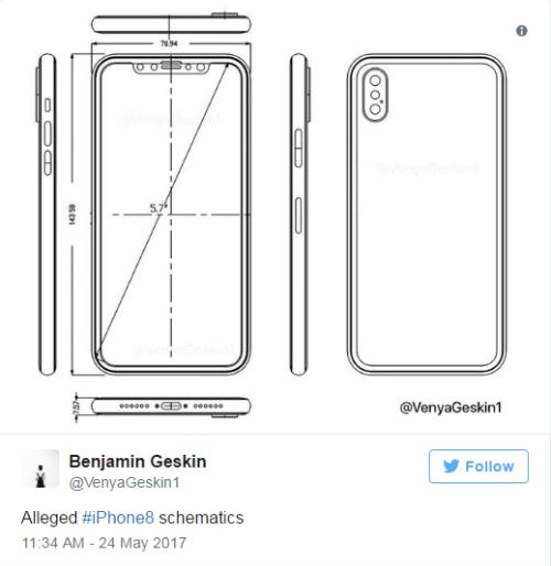 Tiếp tục xuất hiện bản thiết kế mới của iPhone 8 - 1