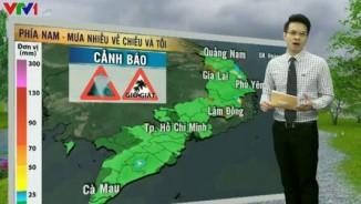 Dự báo thời tiết VTV 26/5: Mưa to diện rộng ở Nam và Trung Bộ