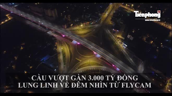 Cầu vượt gần 3.000 tỷ đồng tại Hà Nội lung linh về đêm