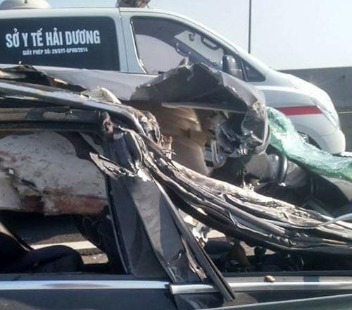 Tin mới vụ Mercedes đâm xe tải trên cao tốc Hà Nội-Hải Phòng - 1