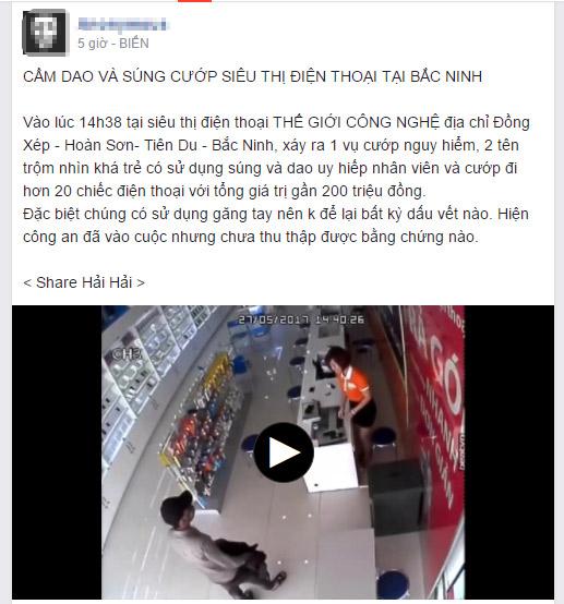 Công an lên tiếng về clip 2 người có súng cướp siêu thị ở Bắc Ninh - 2