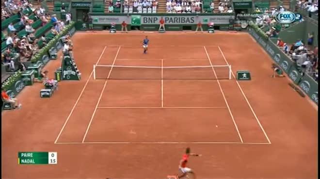 Nadal - Paire: Siêu kịch tính ở set 2 (Vòng 1 Roland Garros)