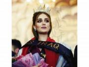 """Hoa hậu Iraq vượt qua """"bão tố"""", đăng quang trong nước mắt"""