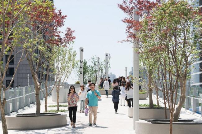 Cầu vượt bỏ không hóa khu vườn trên cao đẹp lạ ở Hàn Quốc - 12