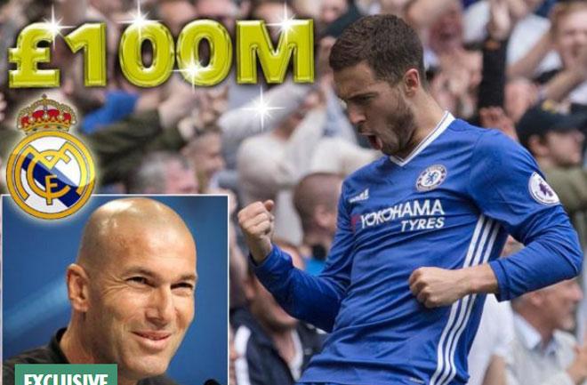 Real Madrid vung 100 triệu bảng, phá kỉ lục vì Hazard - 1