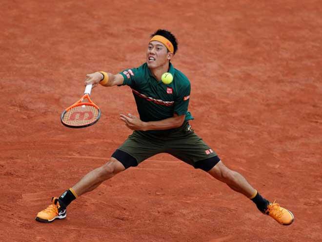 Roland Garros ngày 5: Nishikori suýt bỏ cuộc, vẫn vào vòng 3 - 1