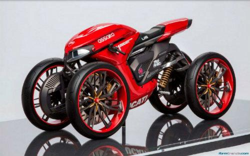 Ducati đang phát triển môtô 4 bánh độc lạ? - 1