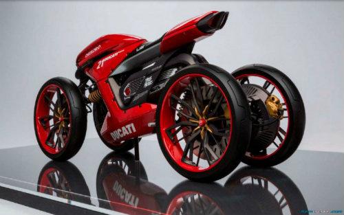 Ducati đang phát triển môtô 4 bánh độc lạ? - 10